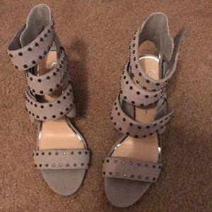 Jessica Simpson grey studded heels